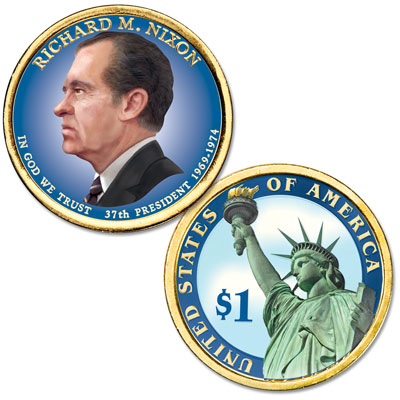 Image for 2016 Colorized Richard M. Nixon Presidential Dollar from Littleton Coin Company