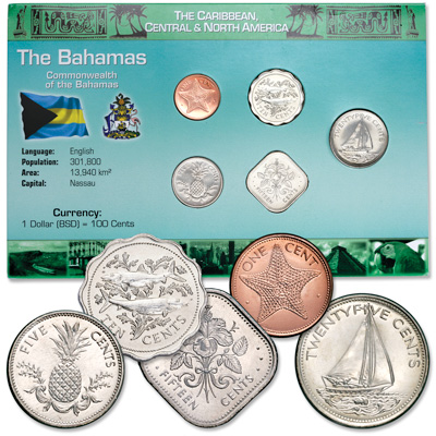 Image for Bahamas Coin Set in Custom Holder from Littleton Coin Company