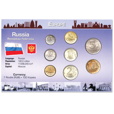 Image for Russia Coin Set in Custom Holder from Littleton Coin Company