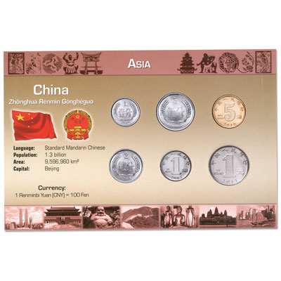 Image for China Coin Set in Custom Holder from Littleton Coin Company