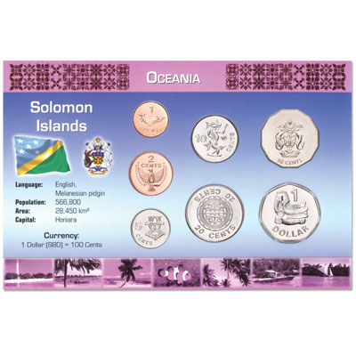 Image for Solomon Islands Coins in Custom Holder from Littleton Coin Company