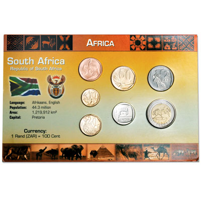 Image for South Africa Coin Set in Custom Holder from Littleton Coin Company