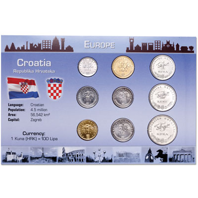 Image for Croatia Coin Set in Custom Holder from Littleton Coin Company