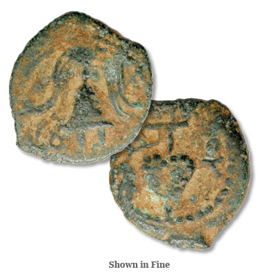 Image for 4 B.C.-AD6 Herod Archelaus Bronze Prutah, Grapes from Littleton Coin Company