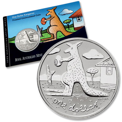 Image for 2008 Australia $1 Copper Nickel Kangaroo from Littleton Coin Company