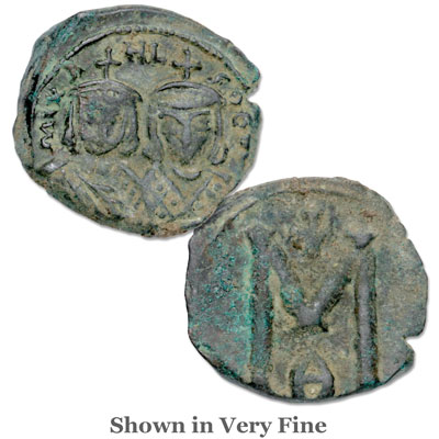 Image for A.D. 820-829 Michael II & Theophilus Copper Follis from Littleton Coin Company