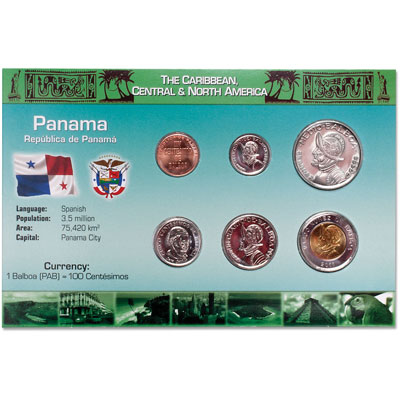 Image for Panama Coin Set in Custom Holder from Littleton Coin Company