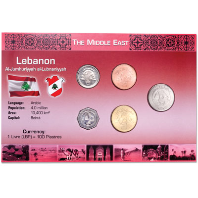 Image for Lebanon Coin Set in Custom Holder from Littleton Coin Company