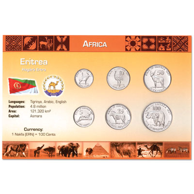 Image for Eritrea Coin Set in Custom Holder from Littleton Coin Company