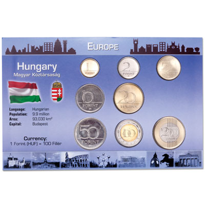 Image for Hungary Coin Set in Custom Holder from Littleton Coin Company