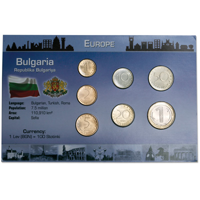 Image for Bulgaria Coin Set in Custom Holder from Littleton Coin Company