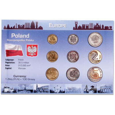 Image for Poland Coin Set in Custom Holder from Littleton Coin Company