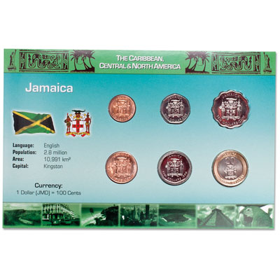 Image for Jamaica Coin Set in Custom Holder from Littleton Coin Company