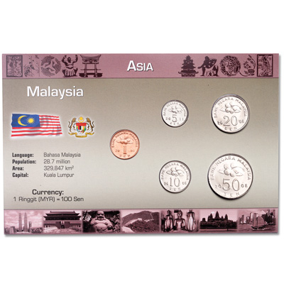 Image for Malaysia Coin Set in Custom Holder from Littleton Coin Company