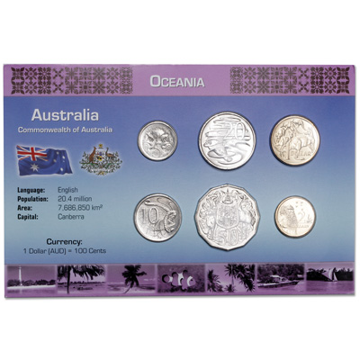 Image for Australia Coin Set in Custom Holder from Littleton Coin Company