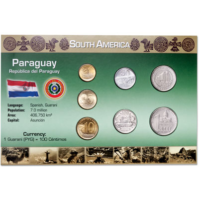 Image for Paraguay Coin Set in Custom Holder from Littleton Coin Company