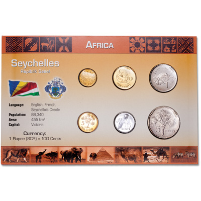 Image for Seychelles Coin Set in Custom Holder from Littleton Coin Company