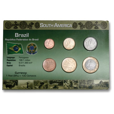 Image for Brazil Coin Set in Custom Holder from Littleton Coin Company