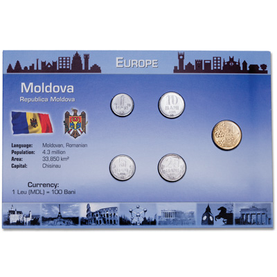Image for Moldova Coin Set in Custom Holder from Littleton Coin Company