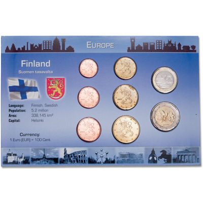 Image for Finland Coin Set in Custom Holder from Littleton Coin Company