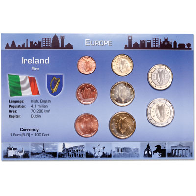 Image for Ireland Coin Set in Custom Holder from Littleton Coin Company