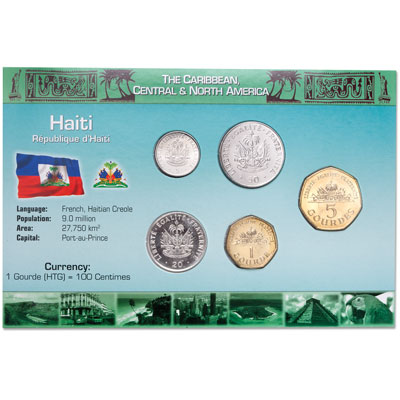 Image for Haiti Coin Set in Custom Holder from Littleton Coin Company