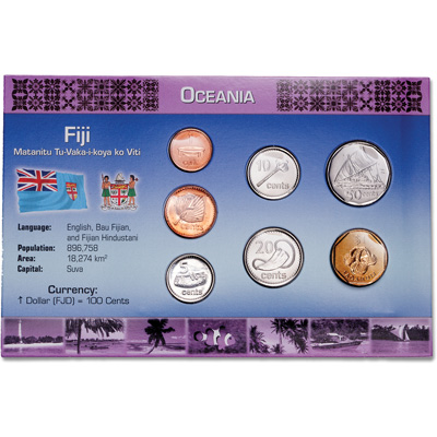 Image for Fiji Coin Set in Custom Holder from Littleton Coin Company