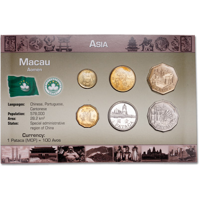 Image for Macau Coin Set in Customer Holder from Littleton Coin Company