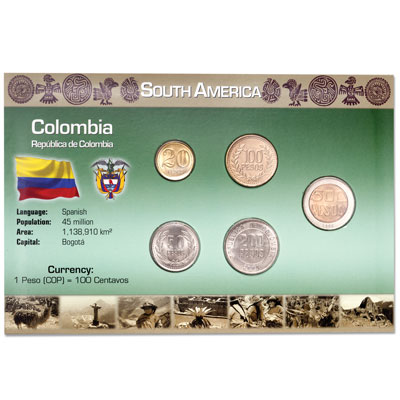 Image for Colombia Coin Set in Custom Holder from Littleton Coin Company