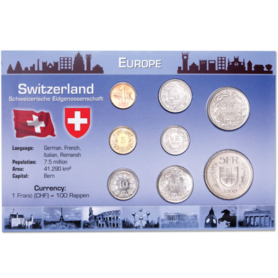 Image for Switzerland Coins in Custom Holder from Littleton Coin Company