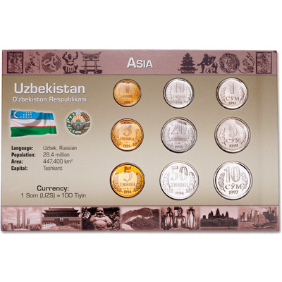 Image for Uzbekistan Coin Set in Custom Holder from Littleton Coin Company