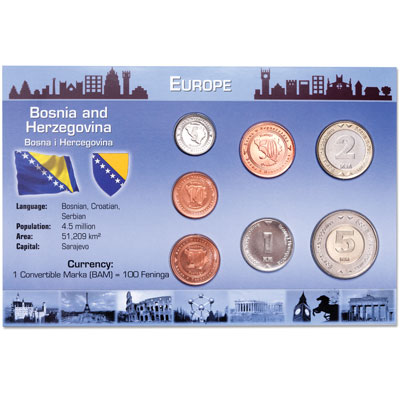 Image for Bosnia Coin Set in Custom Holder from Littleton Coin Company