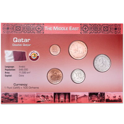 Image for Qatar Coin Set in Custom Holder from Littleton Coin Company