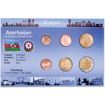 Image for Azerbijan Coin Set in Custom Holder from Littleton Coin Company