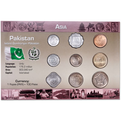 Image for Pakistan Coin Set in Custom Holder from Littleton Coin Company