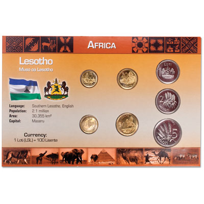 Image for Lesotho Coin Set in Custom Holder from Littleton Coin Company
