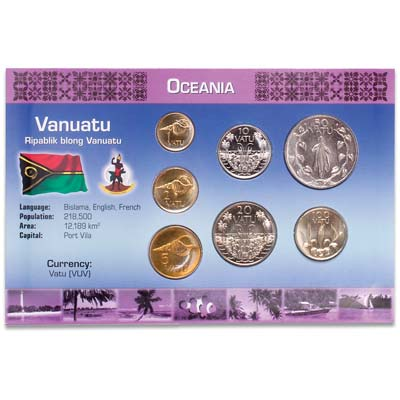 Image for Vanuatu Coin Set in Custom Holder from Littleton Coin Company
