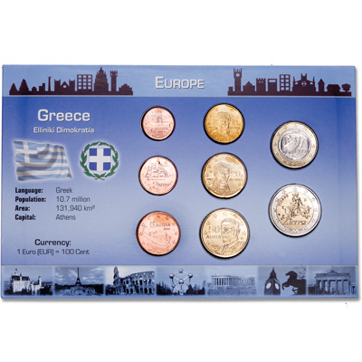 Image for Greece Coin Set in Custom Holder from Littleton Coin Company