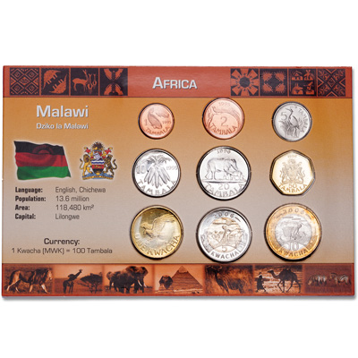 Image for Malawi Coin Set in Custom Holder from Littleton Coin Company