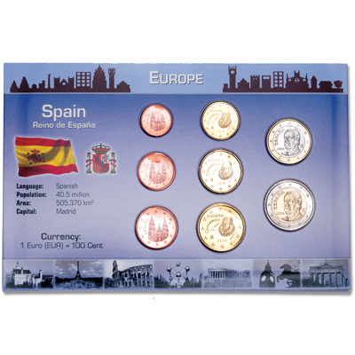 Image for Spain Coin Set in Custom Holder from Littleton Coin Company