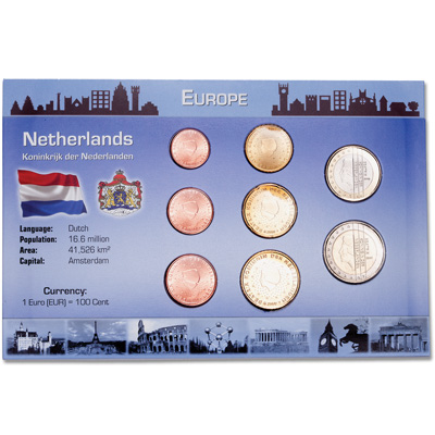 Image for Netherlands Coin Set in Custom Holder from Littleton Coin Company