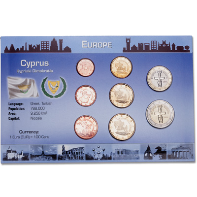 Image for Cyprus Coin Set in Custom Holder from Littleton Coin Company