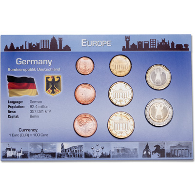 Image for Germany Coin Set in Custom Holder from Littleton Coin Company