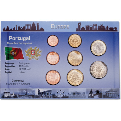 Image for Portugal Coin Set in Custom Holder from Littleton Coin Company