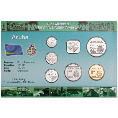 Image for Aruba Coin Set in Custom Holder from Littleton Coin Company