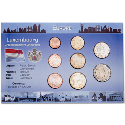 Image for Luxemburg Coin Set in Custom Holder from Littleton Coin Company