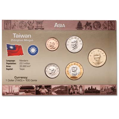 Image for Taiwan Coin Set in Custom Holder from Littleton Coin Company