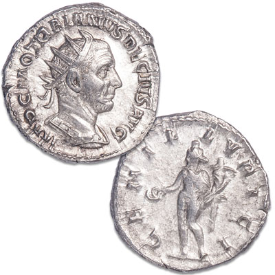 Image for A.D. 249-251 Silver Antoninianus of Trajan Decius from Littleton Coin Company