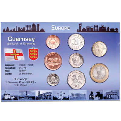 Image for Guernsey Coin Set in Custom Holder from Littleton Coin Company