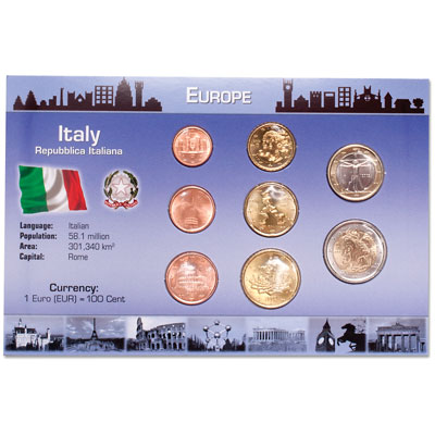 Image for Italy Coin Set in Custom Holder from Littleton Coin Company